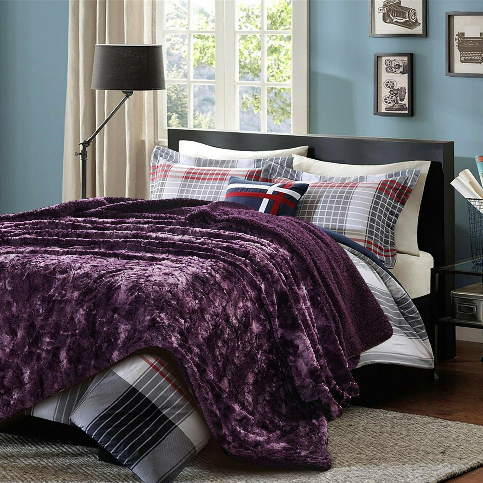 Chanasya Blanket Plush Fluffy Sherpa for Couch