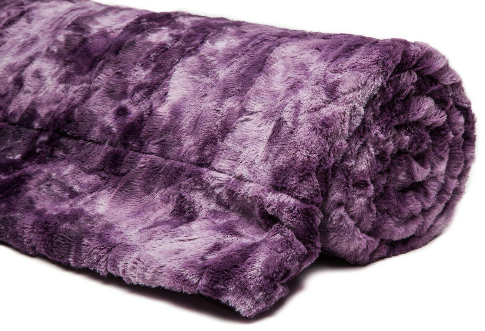Chanasya Blanket Warm Fluffy Sherpa Couch
