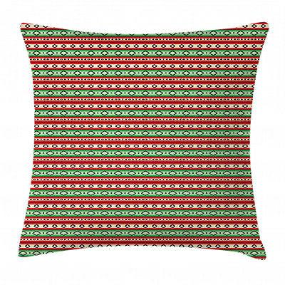 fiesta throw pillow case mexican blanket pattern
