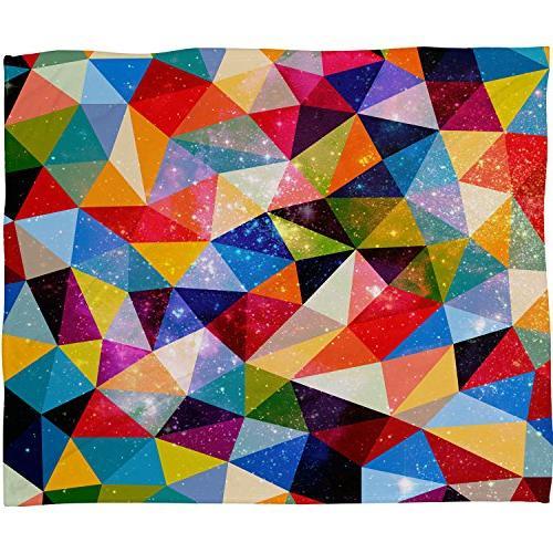 fimbis space shapes fleece throw