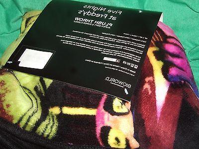 Five 5 Freddy's Plush Fleece Throw Blanket 48X60