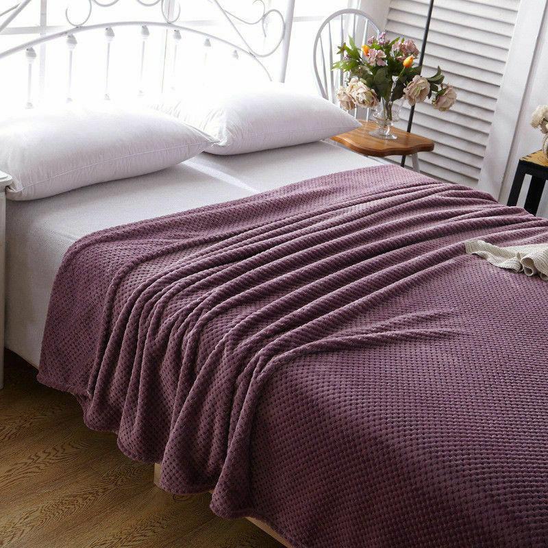 Flannel Blanket Faux Fur Fleece Blanket Mink Luxury