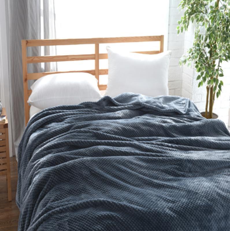 Flannel Blanket Faux Fur Blanket Luxury