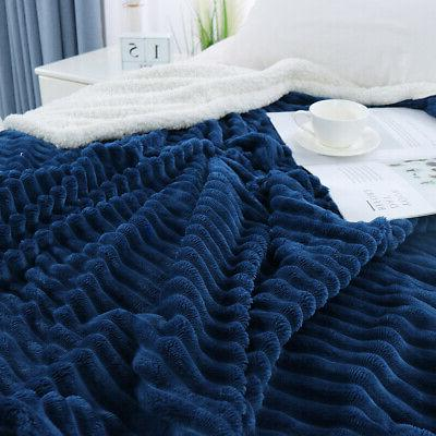 Flannel Bed Throws Blanket for