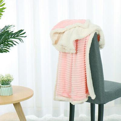 Flannel Blanket Fuzzy Bed Fleece Blanket for