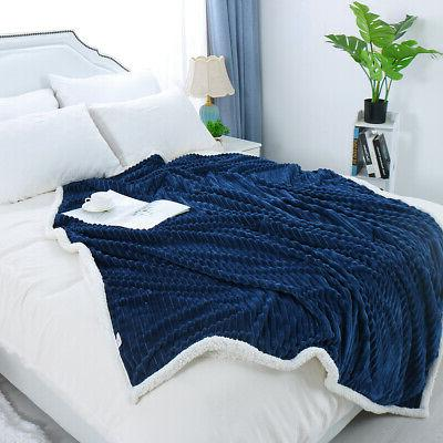 Flannel Bed Throws Blanket for Sofa