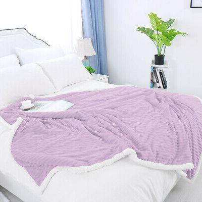 Flannel Blanket Throw Bed Fleece Blanket for Sofa