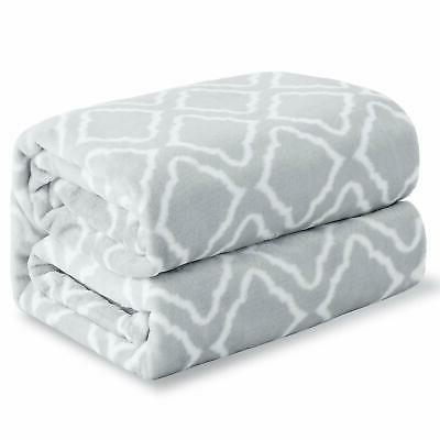 Flannel Blanket Printed Plaid - Blanket Queen King