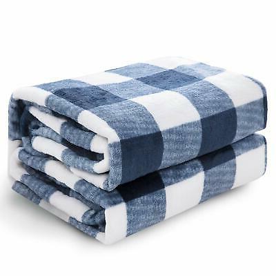 flannel fleece blanket printed plaid bed blanket