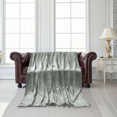 Flannel Fleece Blanket Warm Microfiber Blanket Bed Sofa