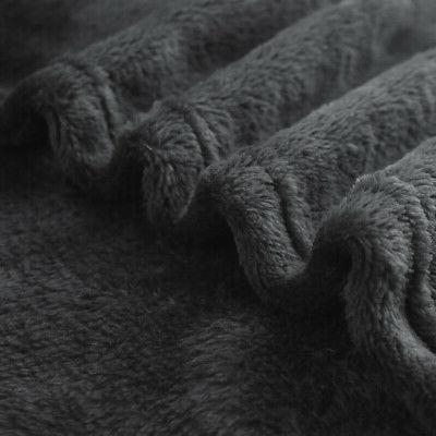 Flannel Fleece Warm Microfiber Blanket Sofa Queen King