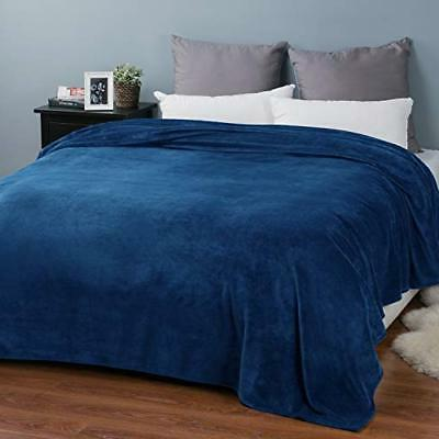 Bedsure Luxury Blanket Blue Navy Lightweight
