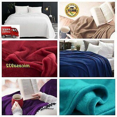 flannel fleece luxury throw blanket lightweight cozy