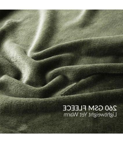 Flannel Blanket Lightweight Super Olive Green,