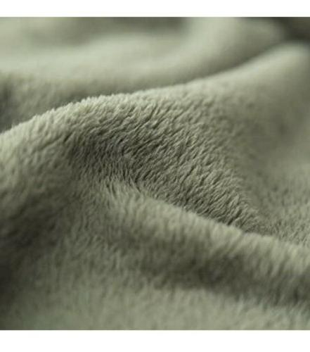 Flannel Luxury Blanket Olive