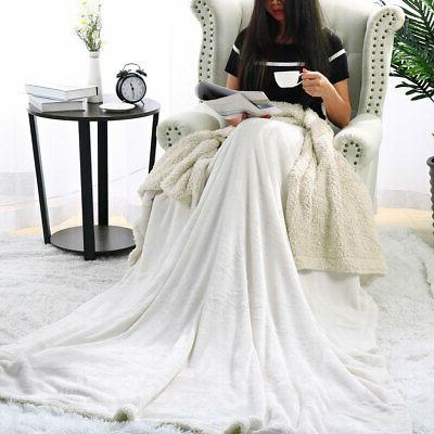 Flannel Fleece Blanket Fabric Sofa