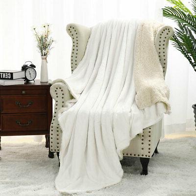 flannel fleece reversible throw blanket extra soft