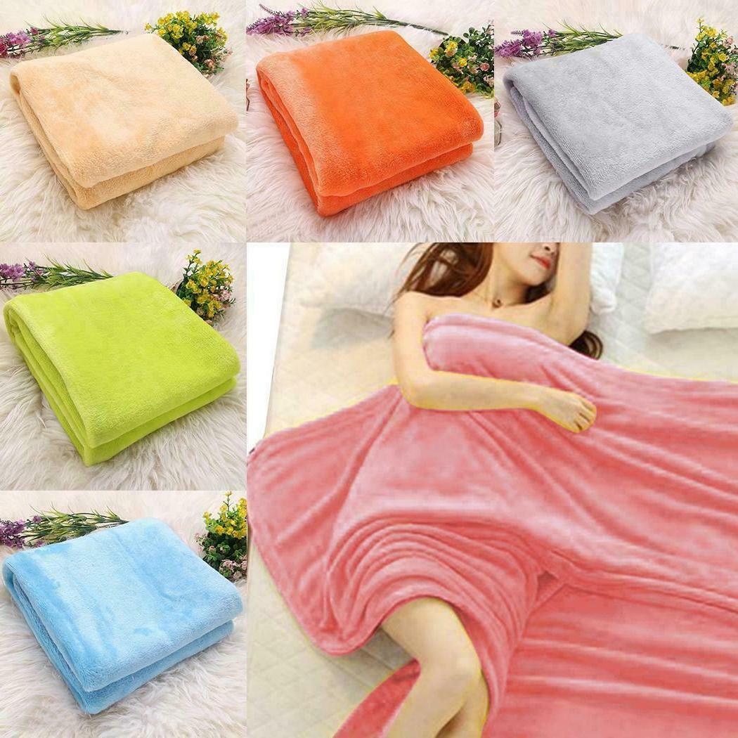 Flannel Sherpa Blanket Twin Soft Plush Sofa