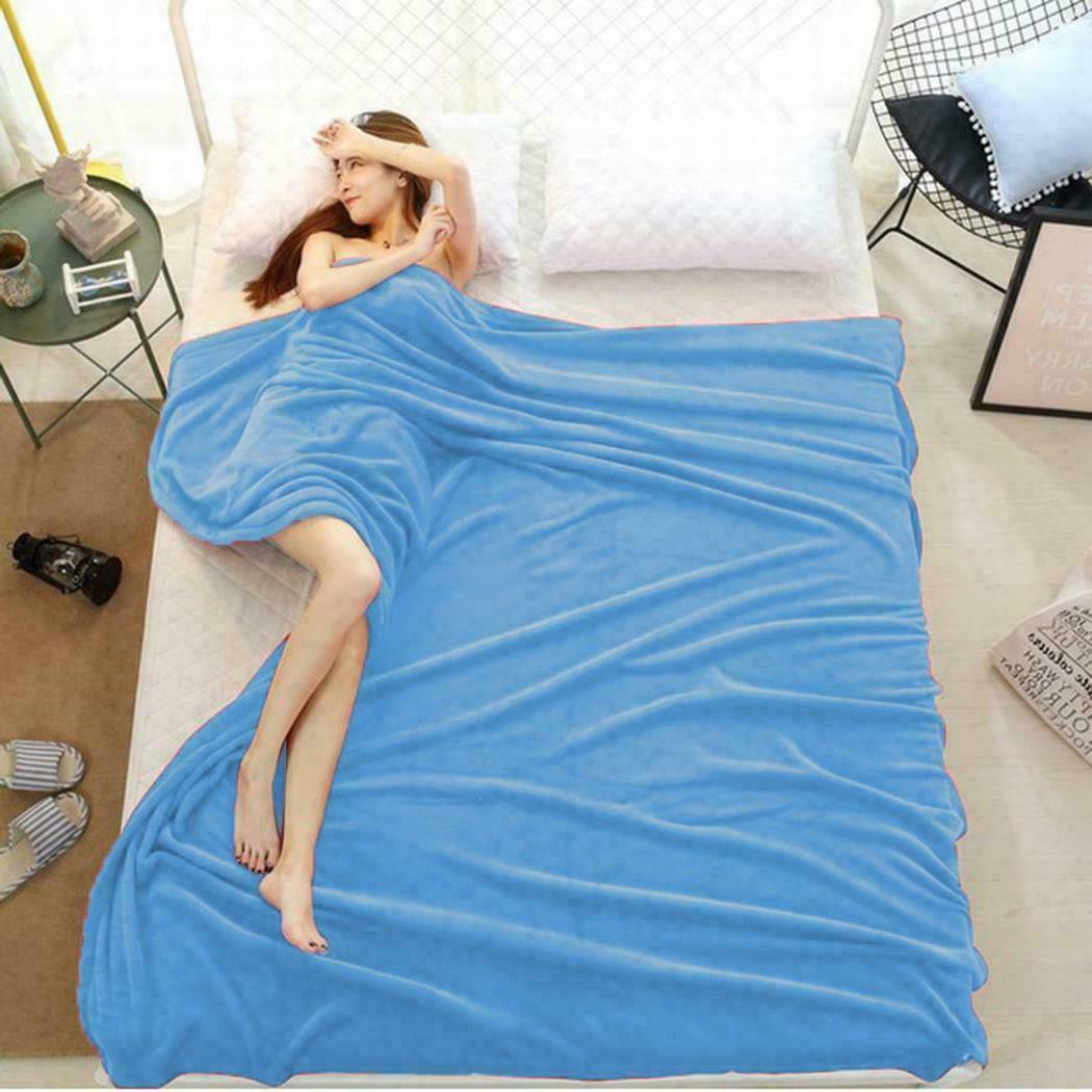 Flannel Fleece Blanket Twin Queen Soft Sofa DR