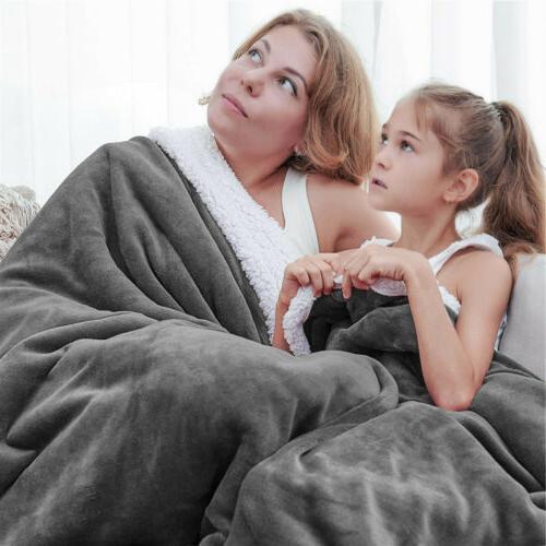 Flannel Fleece Blanket Twin Queen Throw Thickened Soft Rug