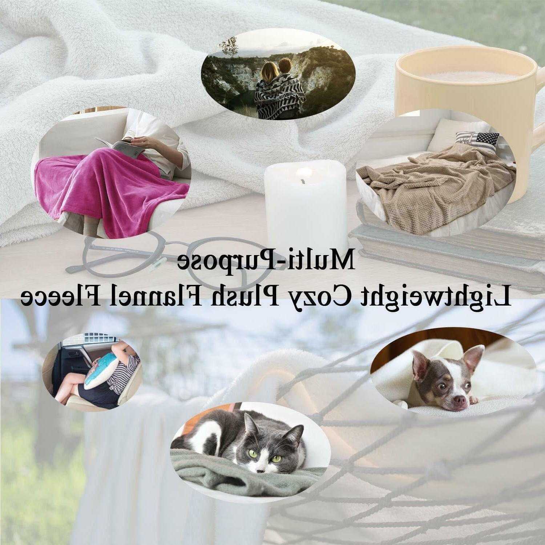 "Soft Blanket Plush Fleece Bed Colors 50"" x"