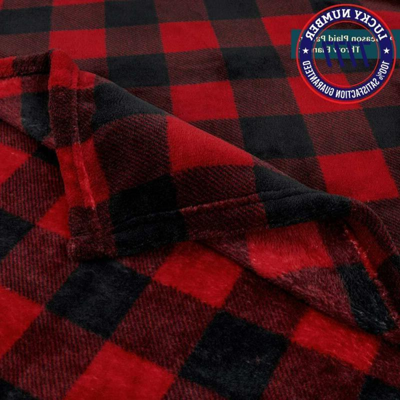 Pavilia Flannel Throw Blanket Sofa Couch   Soft Plaid