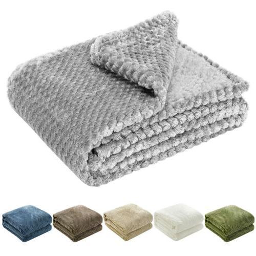 flannel fleece throw blanket soft faux fur