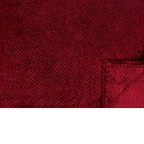 Throw for Couch | Wine Waffle Textured Soft Throw | Warm Microfiber | Season | x 60