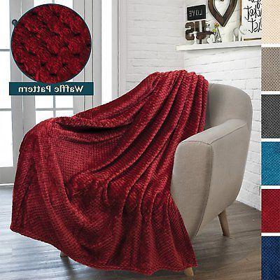 flannel fleece wine red plush