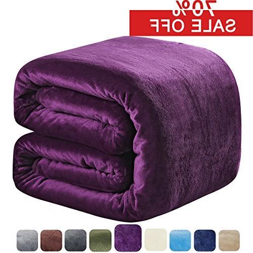 fleece blanket queen 350gsm throw