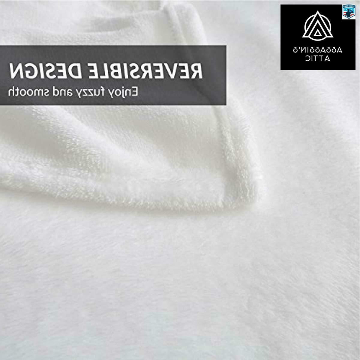 Bedsure Fleece Twin Size White Throw Blanket