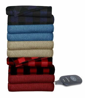 fleece electric heated warming throw blanket tb16
