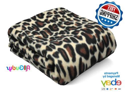fleece throw 50x60 inches blanket leopard cheetah