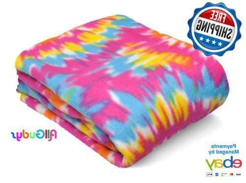 fleece throw 50x60 inches blanket tie dye