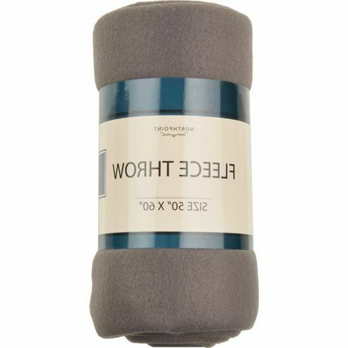 """Northpoint Fleece Throw 50"""" 5 Color"""