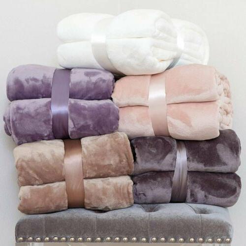 Fleece Velvet Blanket Soft Color Twin