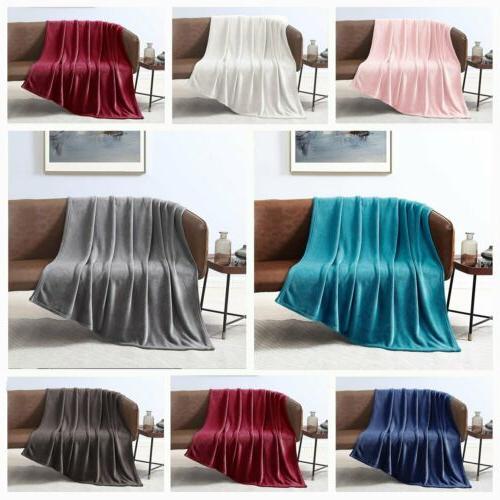fleece velvet plush throw blanket soft elegant