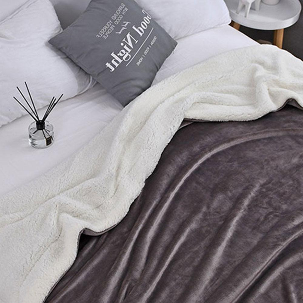 <font><b>Reversible</b></font> <font><b>Throw</b></font> Hotel Fur Housewarming <font><b>Blanket</b></font> Warm
