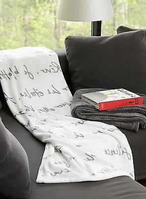 FRENCH SOFT THROW BLANKET POETRY