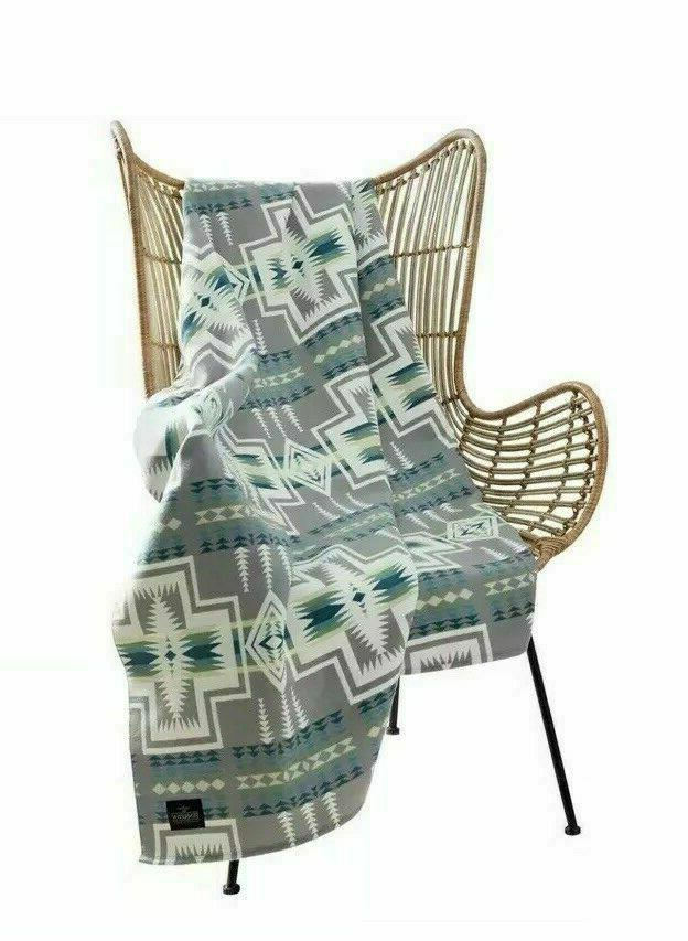 Pendleton Collection Grey Multicolor Aztec 50x70 Harding Luxe Throw