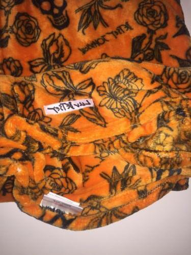 HALLOWEEN Decor Betsey Throw Blanket Orange Roses