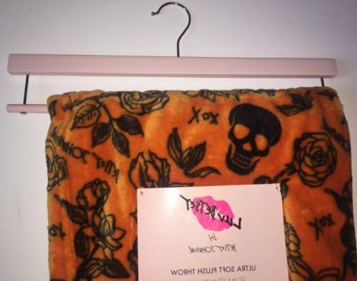 HALLOWEEN Decor Betsey Johnson Throw Blanket Roses