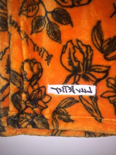 HALLOWEEN Throw Blanket Orange Roses Flowers