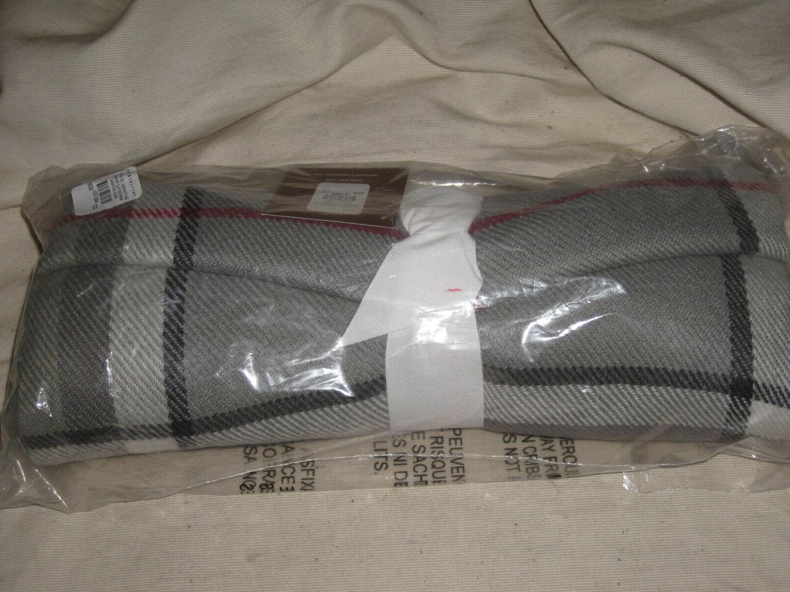 harrison plaid throw blanket new