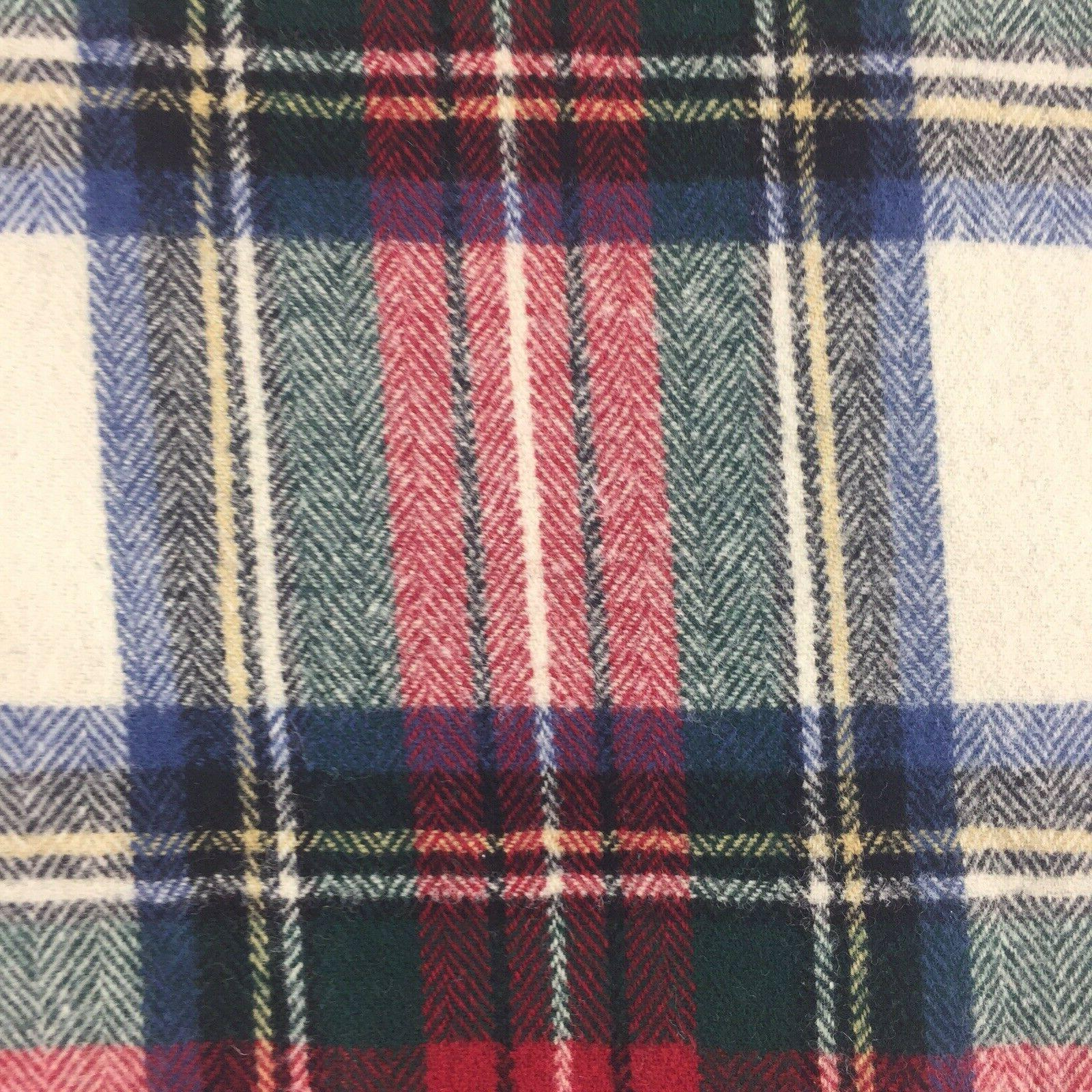 Pendleton 100% WOOL Blanket Fringe Tartan Plaid 70X52 K8B