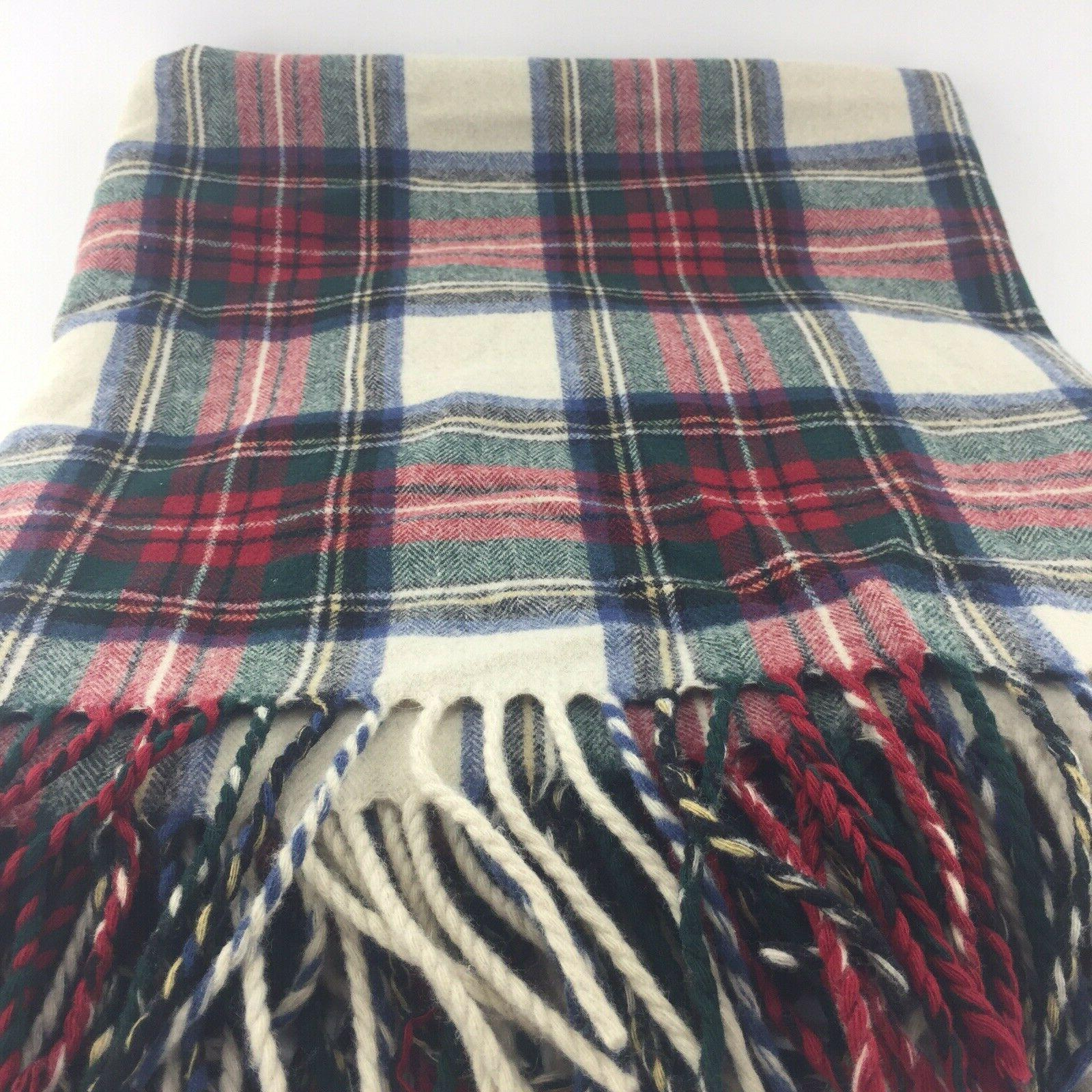 Pendleton Collection WOOL Throw Blanket Tartan Plaid 70X52 K8B