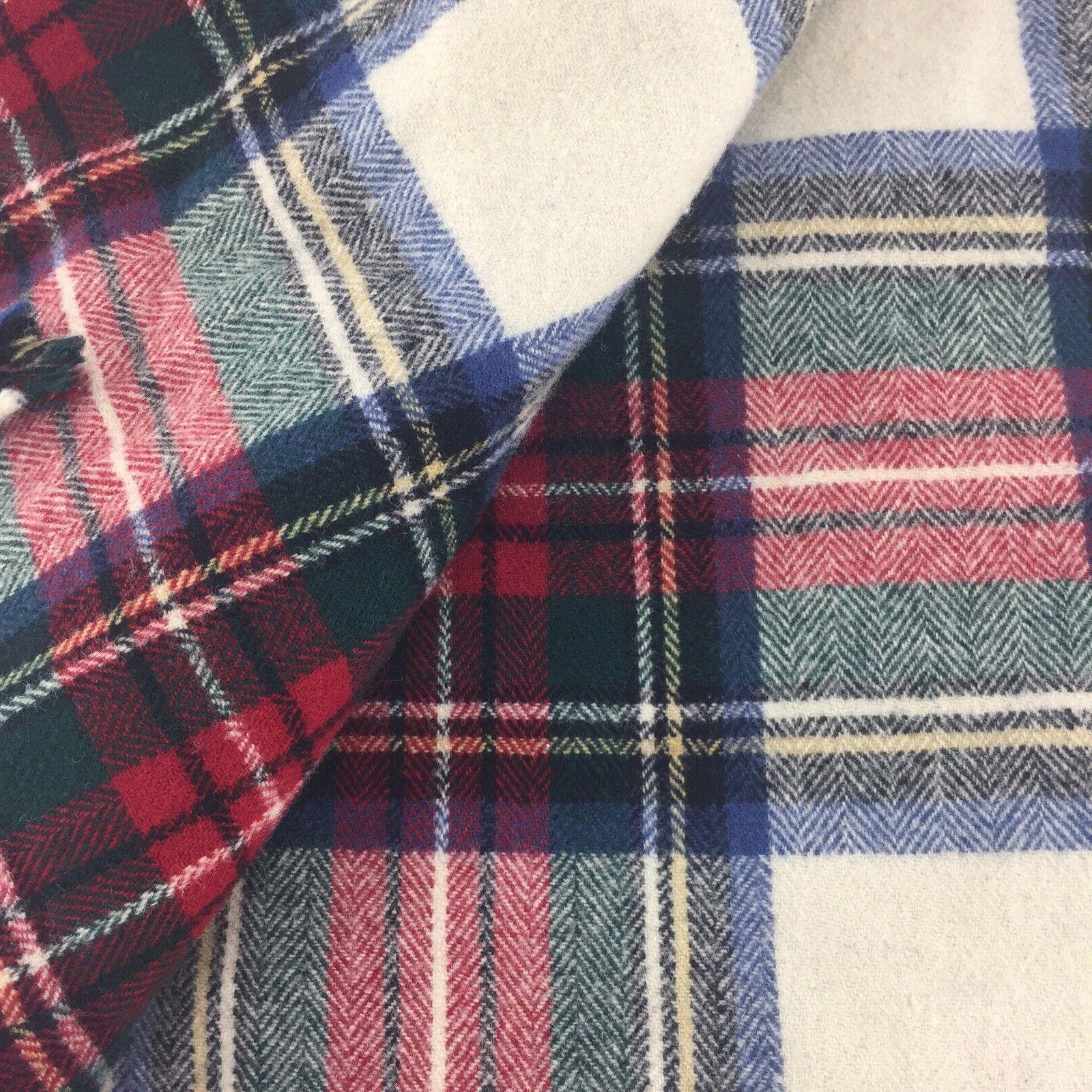 Pendleton WOOL Throw Blanket Tartan Plaid 70X52 K8B