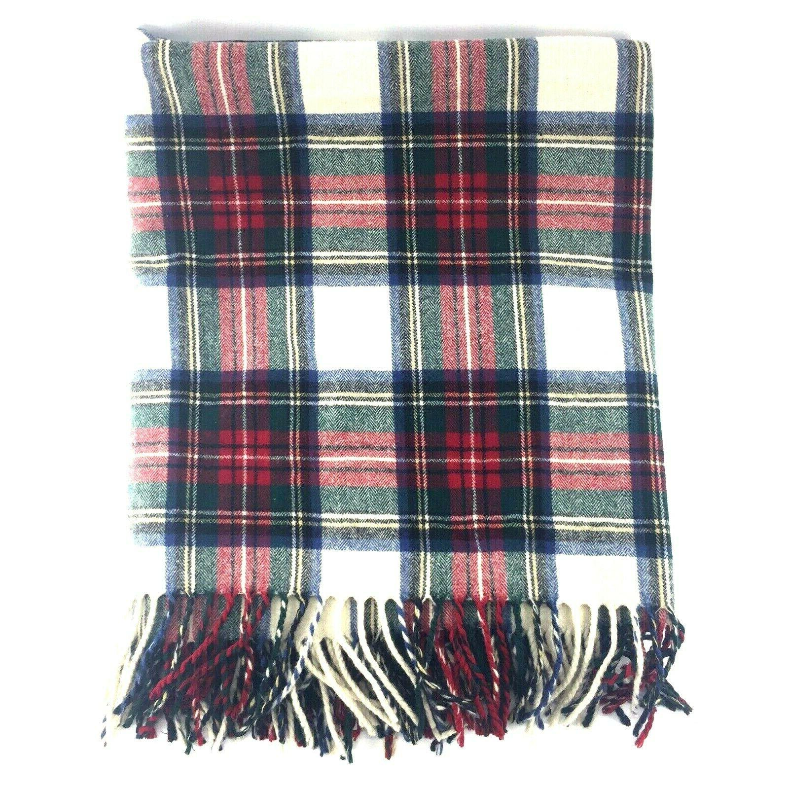 home collection 100 percent wool throw blanket