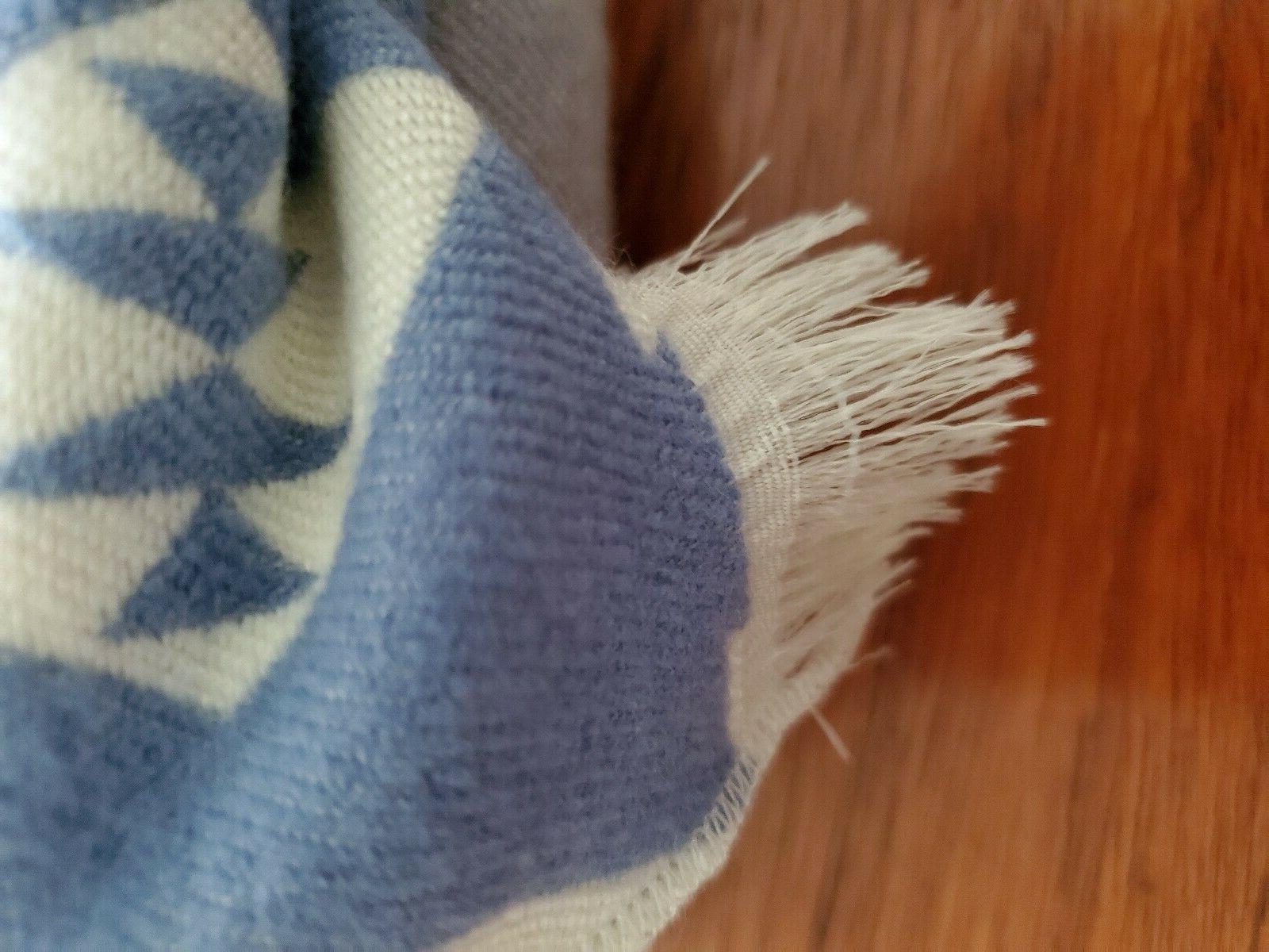 PENDLETON COLLECTION BARK TRIBAL BLUE THROW BLANKET NWT 70