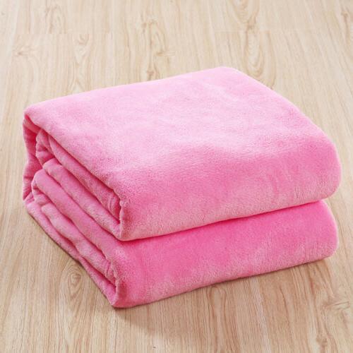 Home Velvet Soft Polar Rug Sofa Bed Throwover